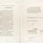 Le premier acte de capitulation, signé à Reims le 7 mai 1945.