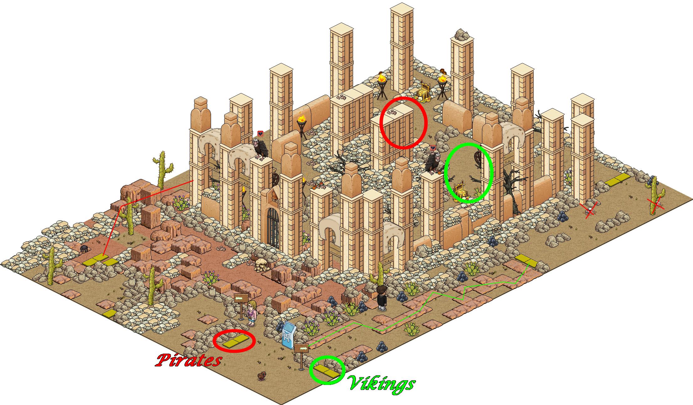 Le trésor Habbo - La Cité du désert