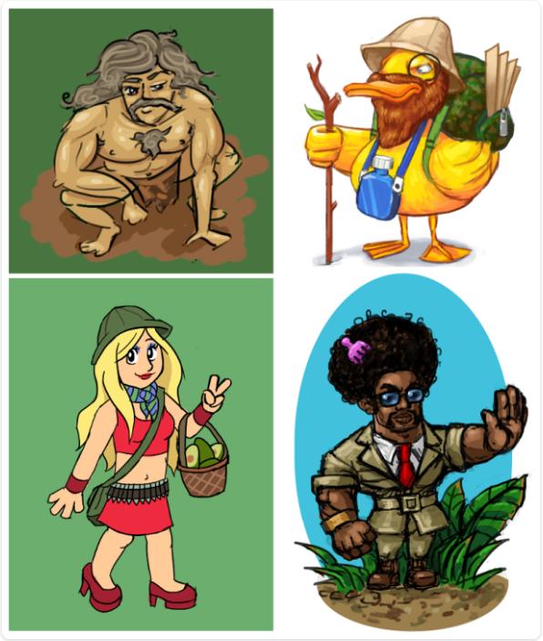 stranded-jungle-sketches